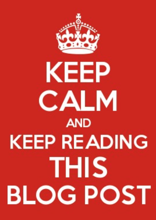 Keep calm, keep reading.